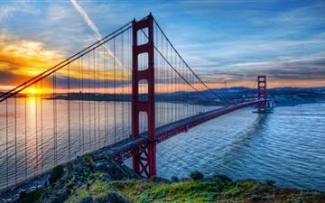 Sunrise At San Francisco Mac wallpaper