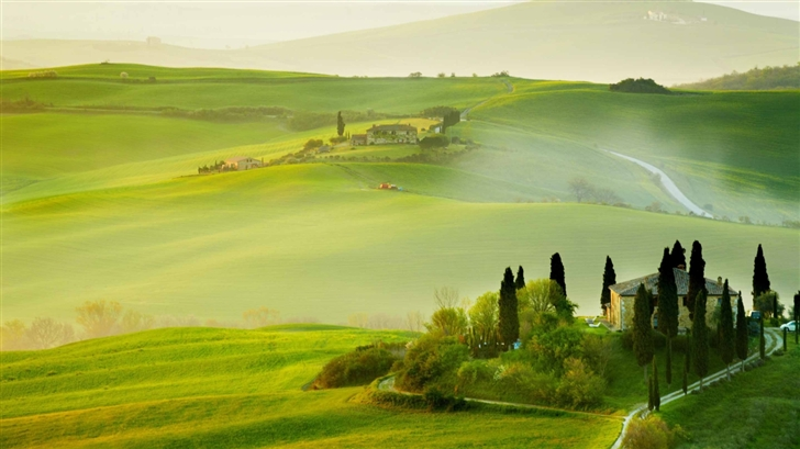 Tuscany Spring Landscape Mac Wallpaper