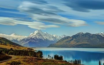 The RoadTo Mount Cook Along Lake  Mac wallpaper