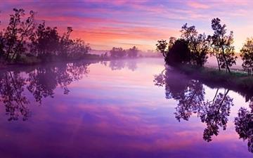 Purple River Reflection Mac wallpaper