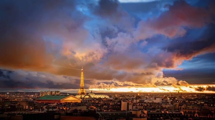 Romantic Night In Paris Mac Wallpaper