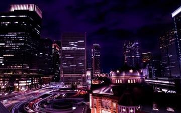 Tokyo Night View Japan Mac wallpaper