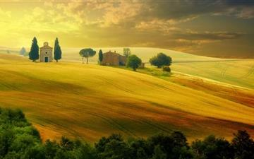 Tuscany Autumn Mac wallpaper