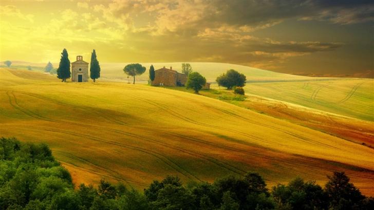 Tuscany Autumn Mac Wallpaper