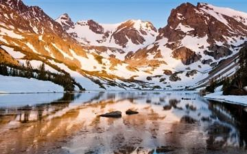 Mountain Ridge Winter Mac wallpaper