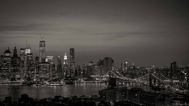 New York City Black And White Mac Wallpaper