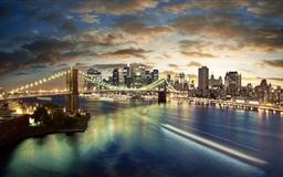 New York City Brooklyn Bridge View