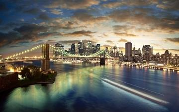 New York City Brooklyn Bridge View Mac wallpaper