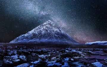 Milkyway Over Scottish Highlands Mac wallpaper