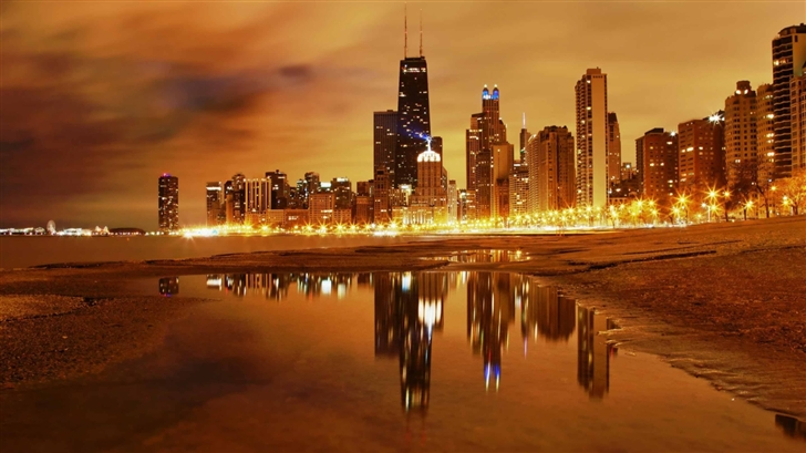Chicago Late Evening Mac Wallpaper