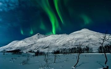 Aurora Borealis Tromso Norway Mac wallpaper