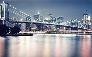 Brooklyn Bridge At Night Mac wallpaper