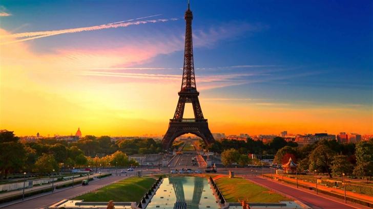 Eiffel Tower At Sunrise Mac Wallpaper Download Allmacwallpaper