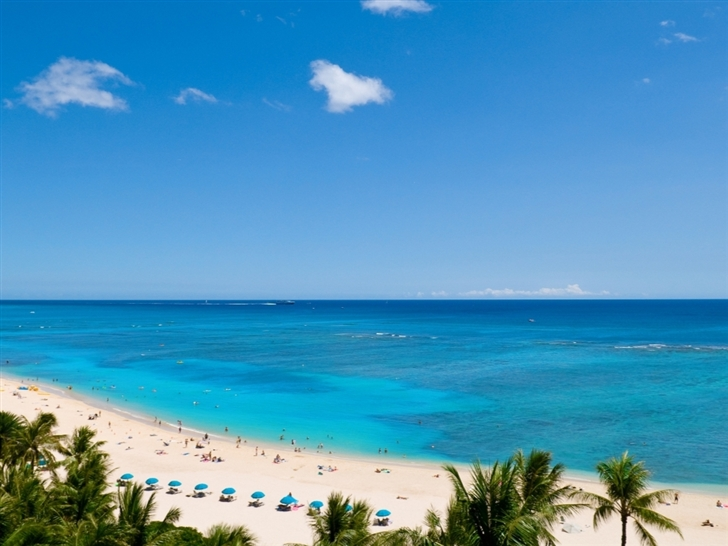 Waikiki Beach And Pacific Ocean Mac Wallpaper