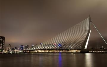 Erasmus Bridge Rotterdam The Netherlands Mac wallpaper