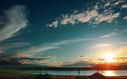 Armenia Sunset From Train