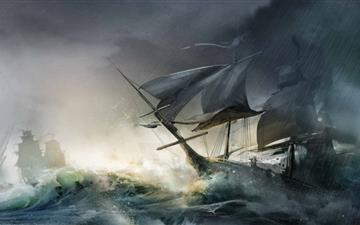 Assassins Creed ships All Mac wallpaper