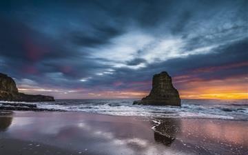 Cloudy Ocean Sunset Mac wallpaper