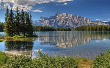 Banff Park Alberta Canada Trees MacBook Air wallpaper