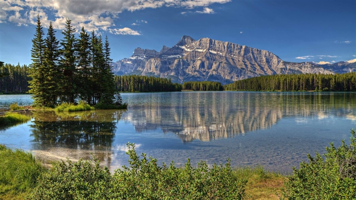 Banff Park Alberta Canada Trees Mac Wallpaper