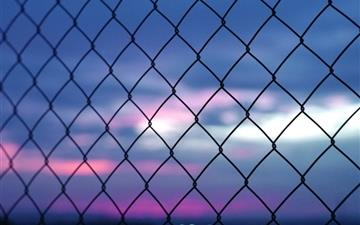 Fence Bokeh Mac wallpaper