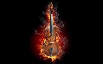 Burning Violin Mac wallpaper