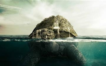 Giant Turtle Mac wallpaper