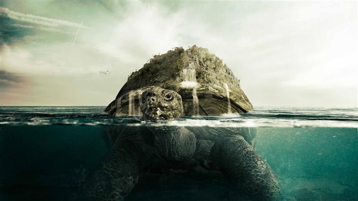 Giant Turtle Mac Wallpaper