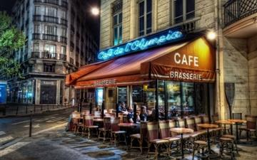 Paris street corner coffee Mac wallpaper