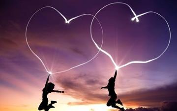 Valentines Day Hearts Mac wallpaper