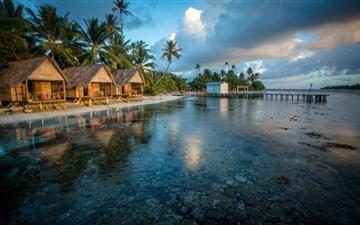 Bungalows On The Reef French Polynesia All Mac wallpaper