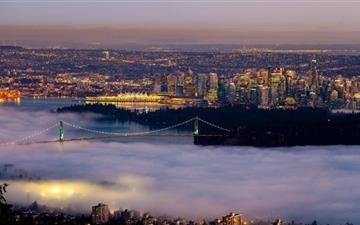 Vancouver Fog City Mac wallpaper