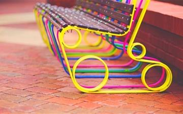 Colorful Bench All Mac wallpaper