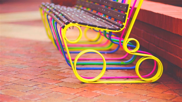 Colorful Bench Mac Wallpaper