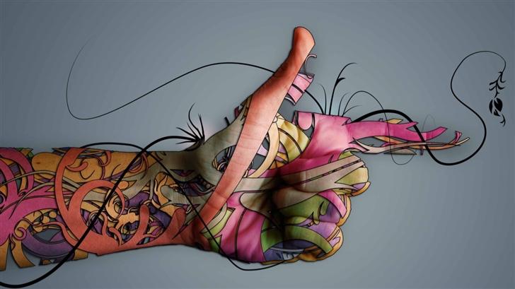 Creative Hand Mac Wallpaper
