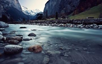 Lauterbrunnen Switzerland Mac wallpaper