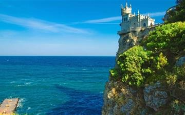 Cliff Top Castle Mac wallpaper