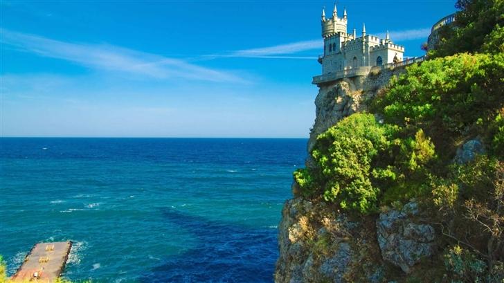 Cliff Top Castle Mac Wallpaper