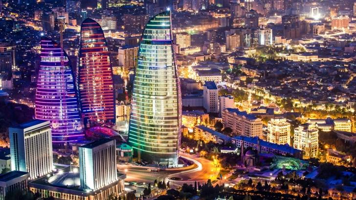 Flame Towers Baku Azerbaijan Mac Wallpaper