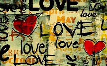 Love Written In Graffiti Mac wallpaper