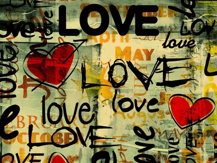 Love Written In Graffiti Mac Wallpaper