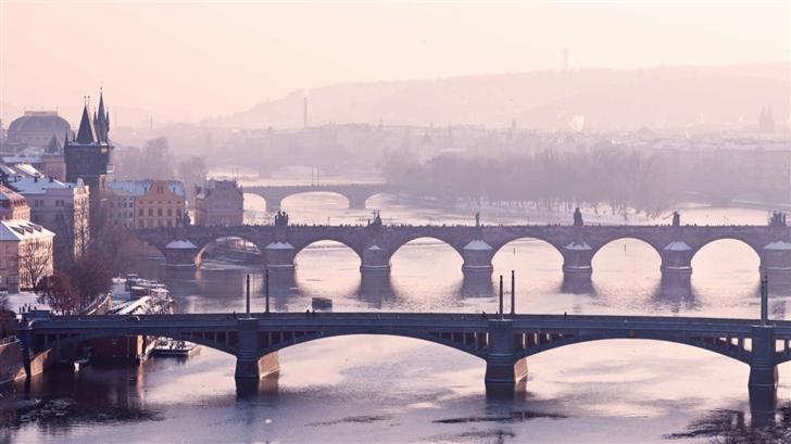 Prague Bridge  Mac Wallpaper