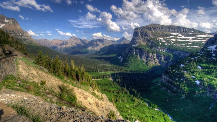 USA Glacier Mountain Mac Wallpaper