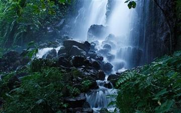 Beautiful Forest Waterfall Summer All Mac wallpaper