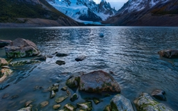 Cold Mountain Lake In Argentina