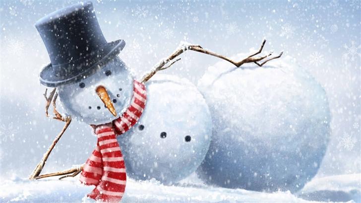 Cool Snowman Mac Wallpaper