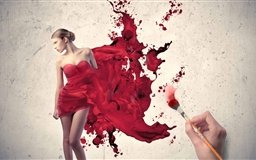 Painting The Woman In Red