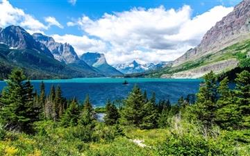 Saint Mary Lake Glacier National Park All Mac wallpaper