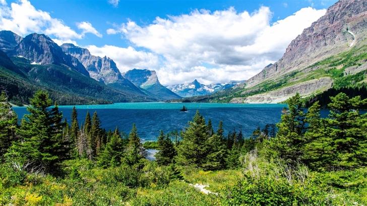 Saint Mary Lake Glacier National Park Mac Wallpaper
