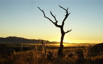 Sunset Namib Desert Mac wallpaper